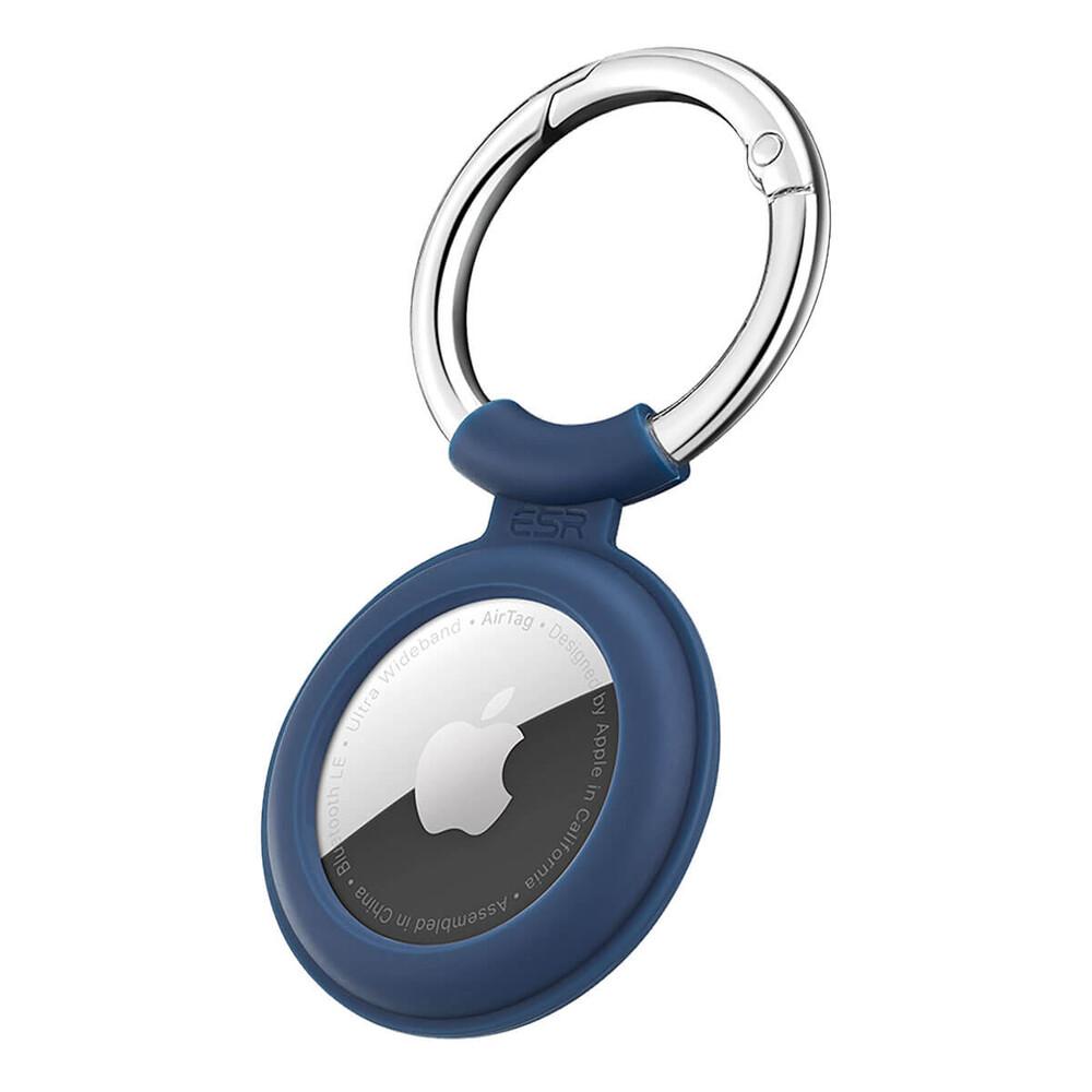 Силиконовый чехол c карабином ESR Cloud Silicone Keychain Case Navy Blue для AirTag