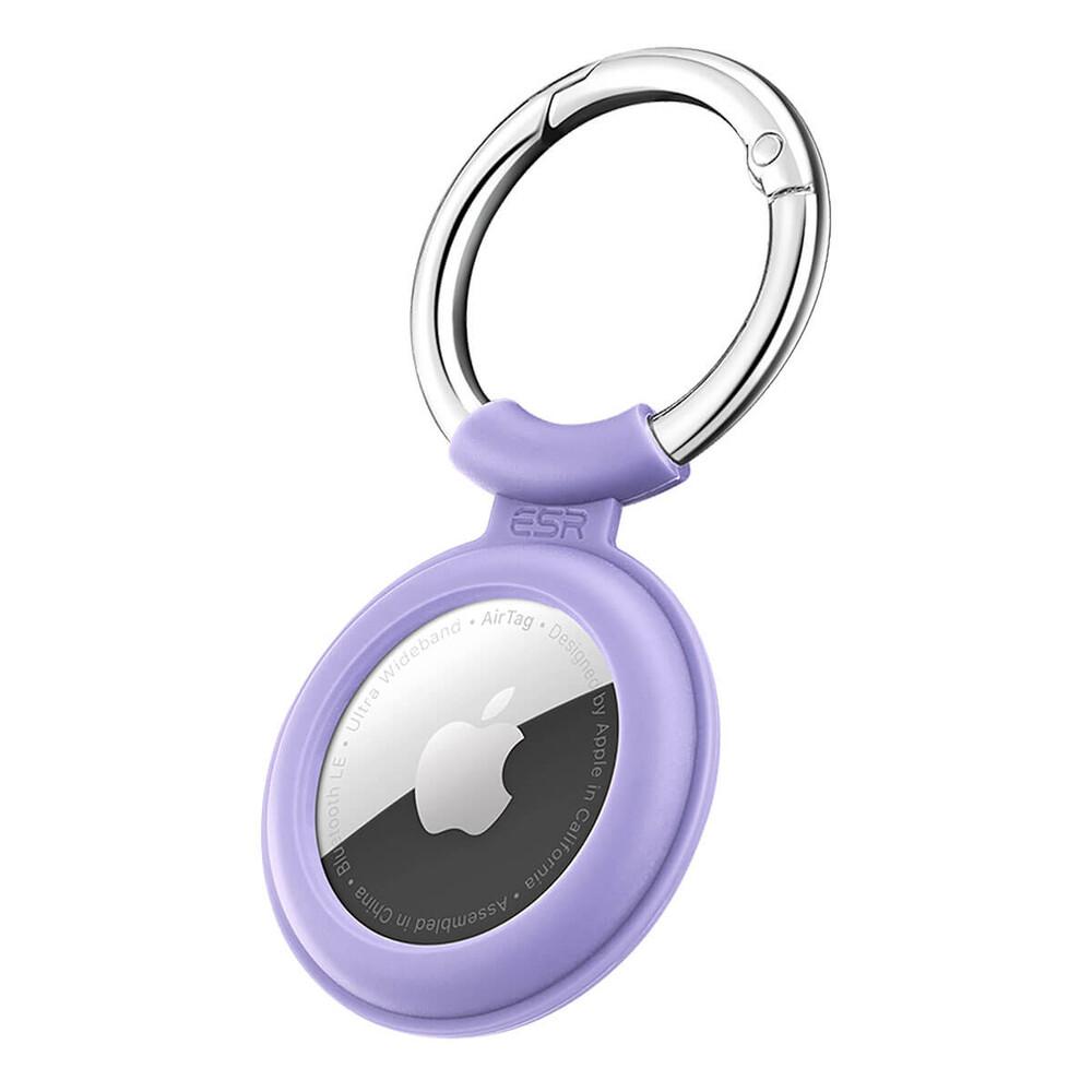 Силиконовый чехол c карабином ESR Cloud Silicone Keychain Case Purple для AirTag