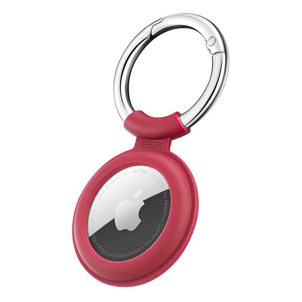 Силиконовый чехол c карабином ESR Cloud Silicone Keychain Case Red для AirTag