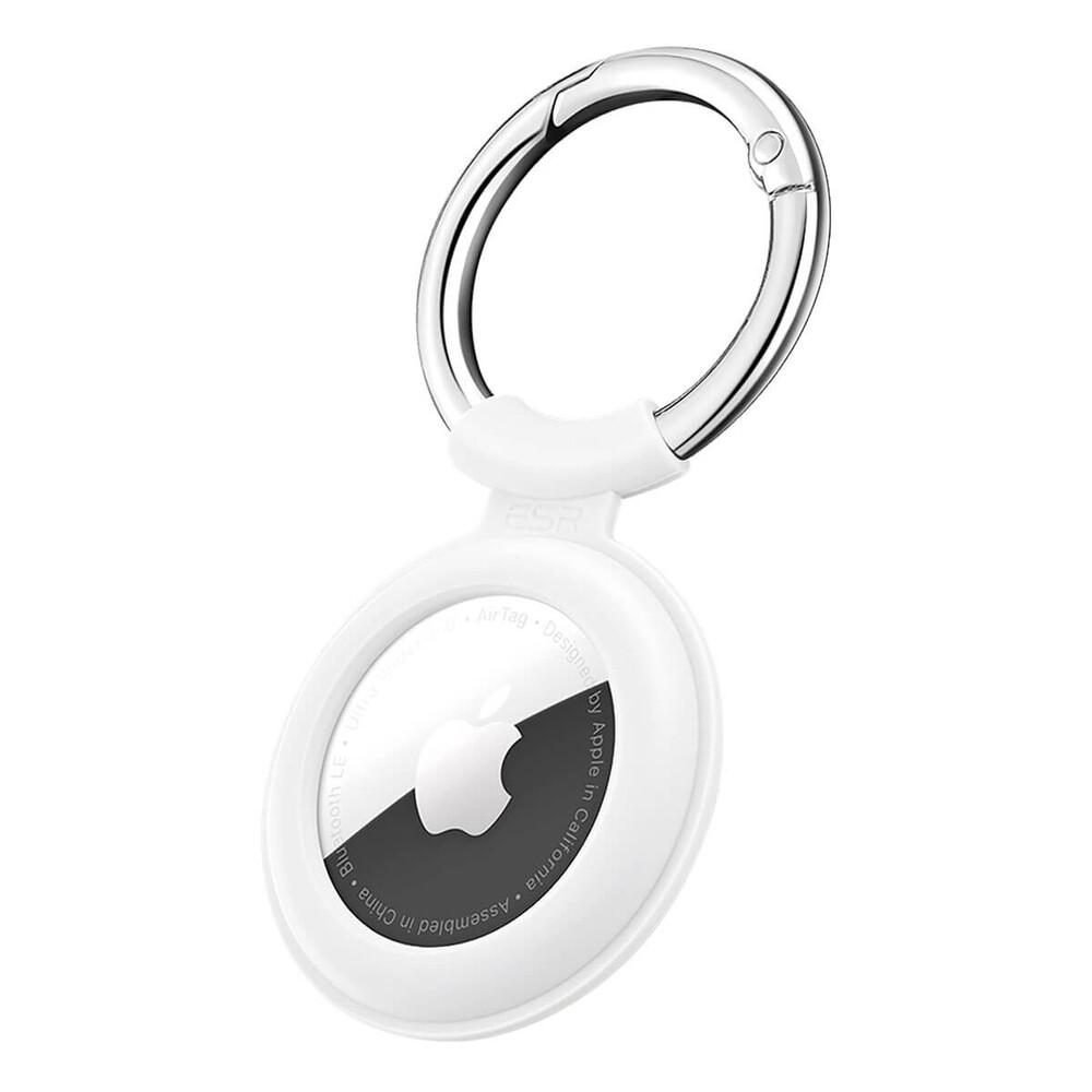 Силиконовый чехол c карабином ESR Cloud Silicone Keychain Case White для AirTag
