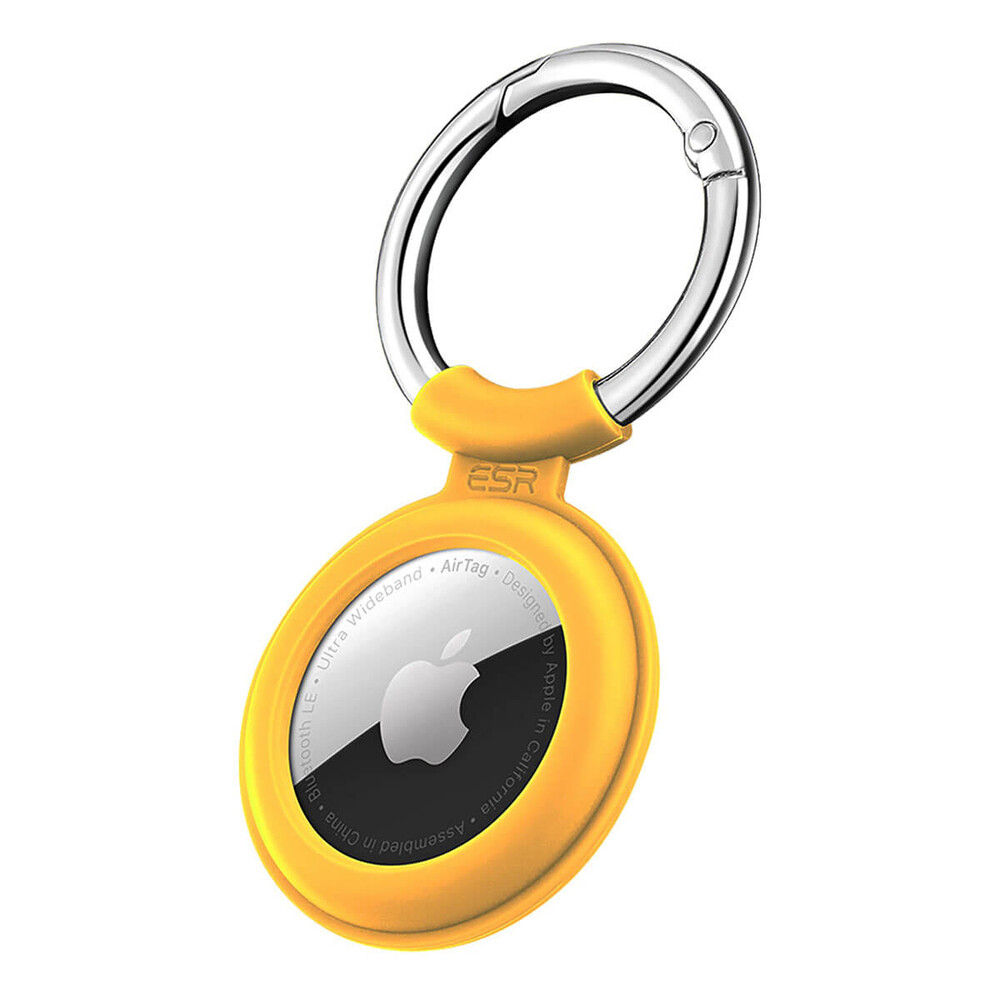 Силиконовый чехол c карабином ESR Cloud Silicone Keychain Case Yellow для AirTag