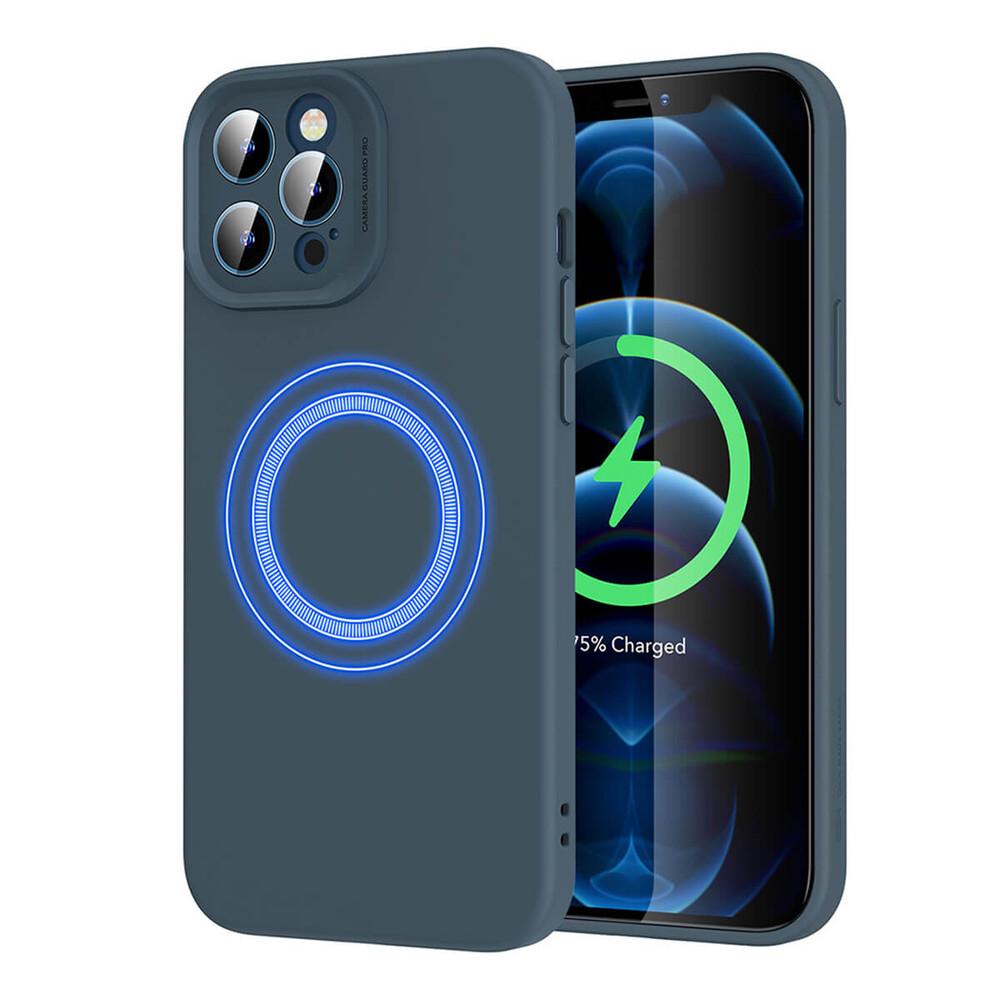 Силиконовый чехол ESR Cloud Soft Case MagSafe Blue для iPhone 12
