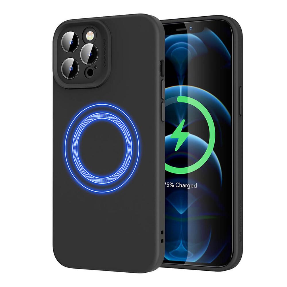 Силиконовый чехол ESR Cloud Soft Case MagSafe Black для iPhone 12