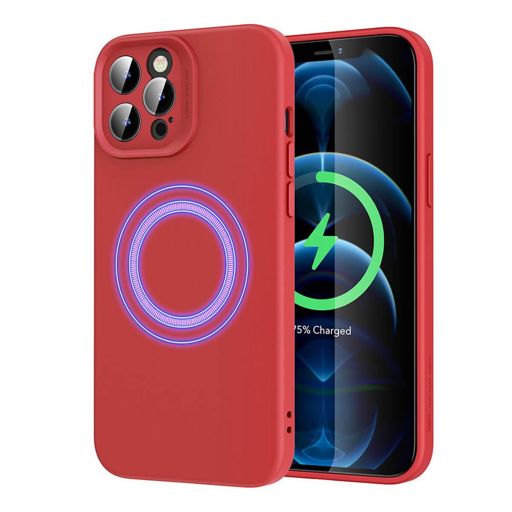 Силиконовый чехол ESR Cloud Soft Case MagSafe Red для iPhone 12