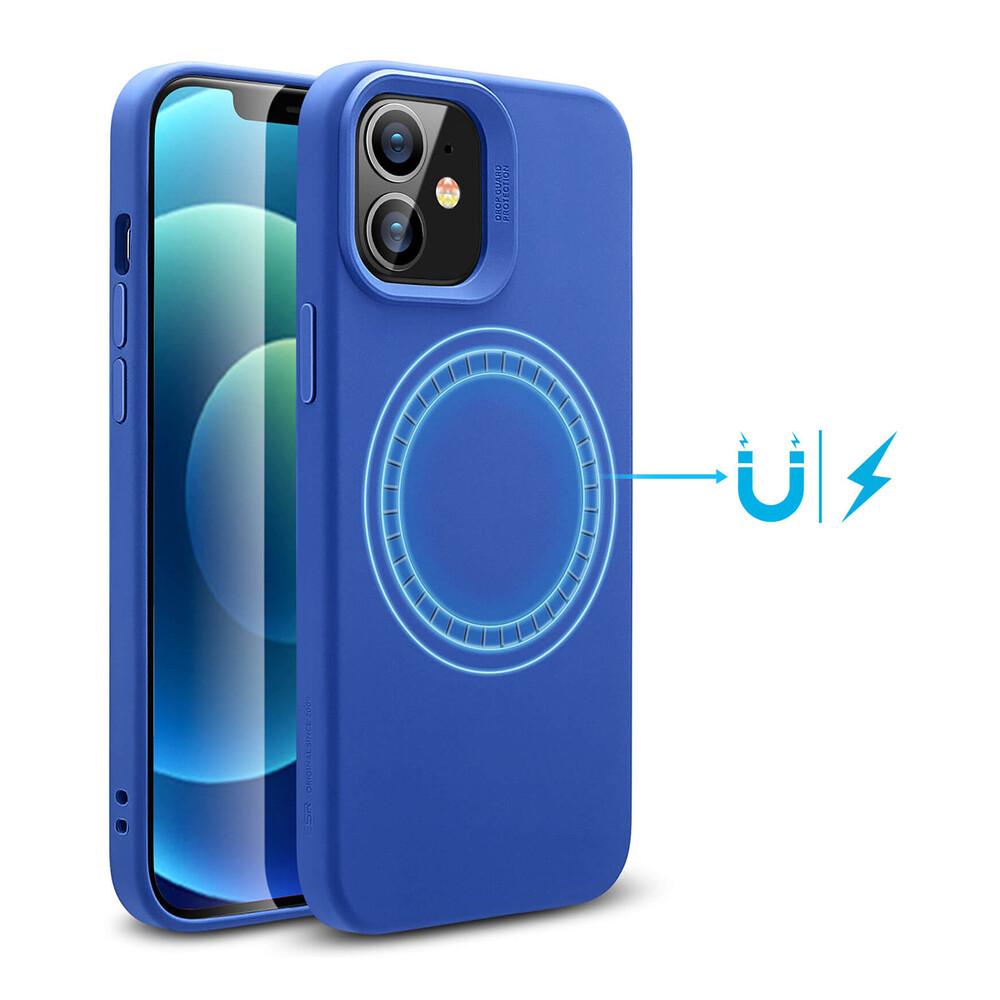 Силиконовый чехол ESR Cloud Soft HaloLock MagSafe Blue для iPhone 12 mini