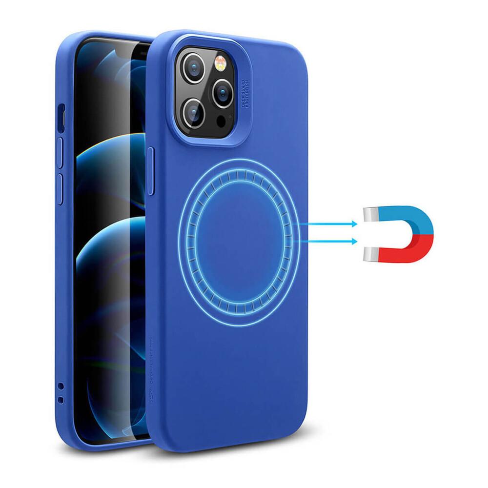 Силиконовый чехол ESR Cloud Soft HaloLock MagSafe Blue для iPhone 12 Pro Max
