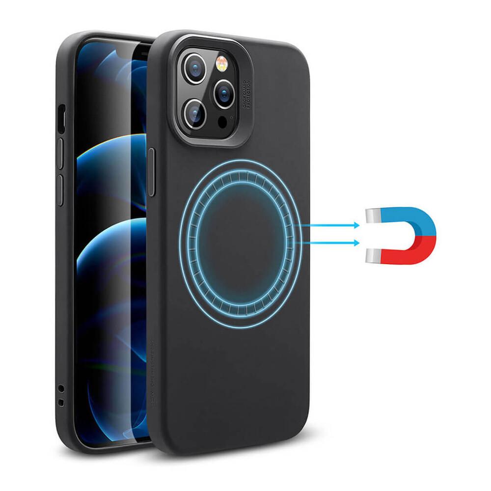 Черный силиконовый чехол ESR Cloud Soft HaloLock MagSafe для iPhone 12 Pro Max