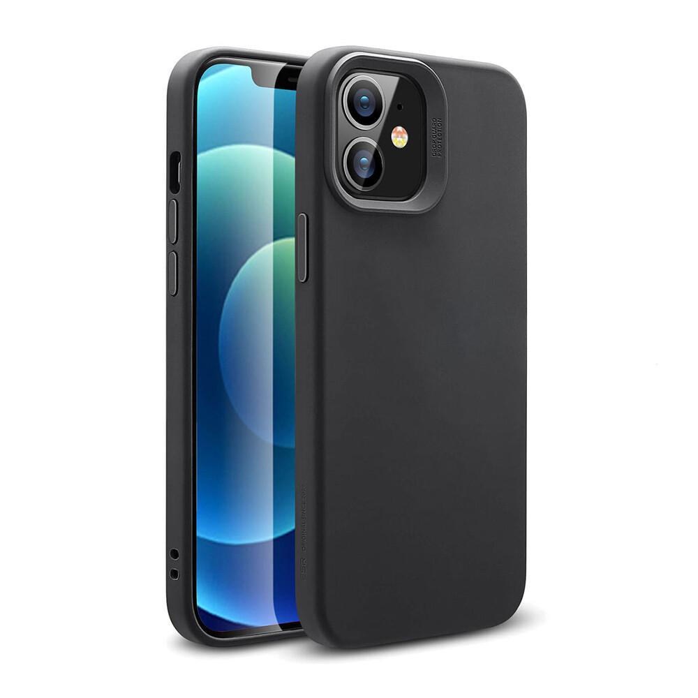 Черный силиконовый чехол ESR Cloud Soft HaloLock MagSafe для iPhone 12 mini