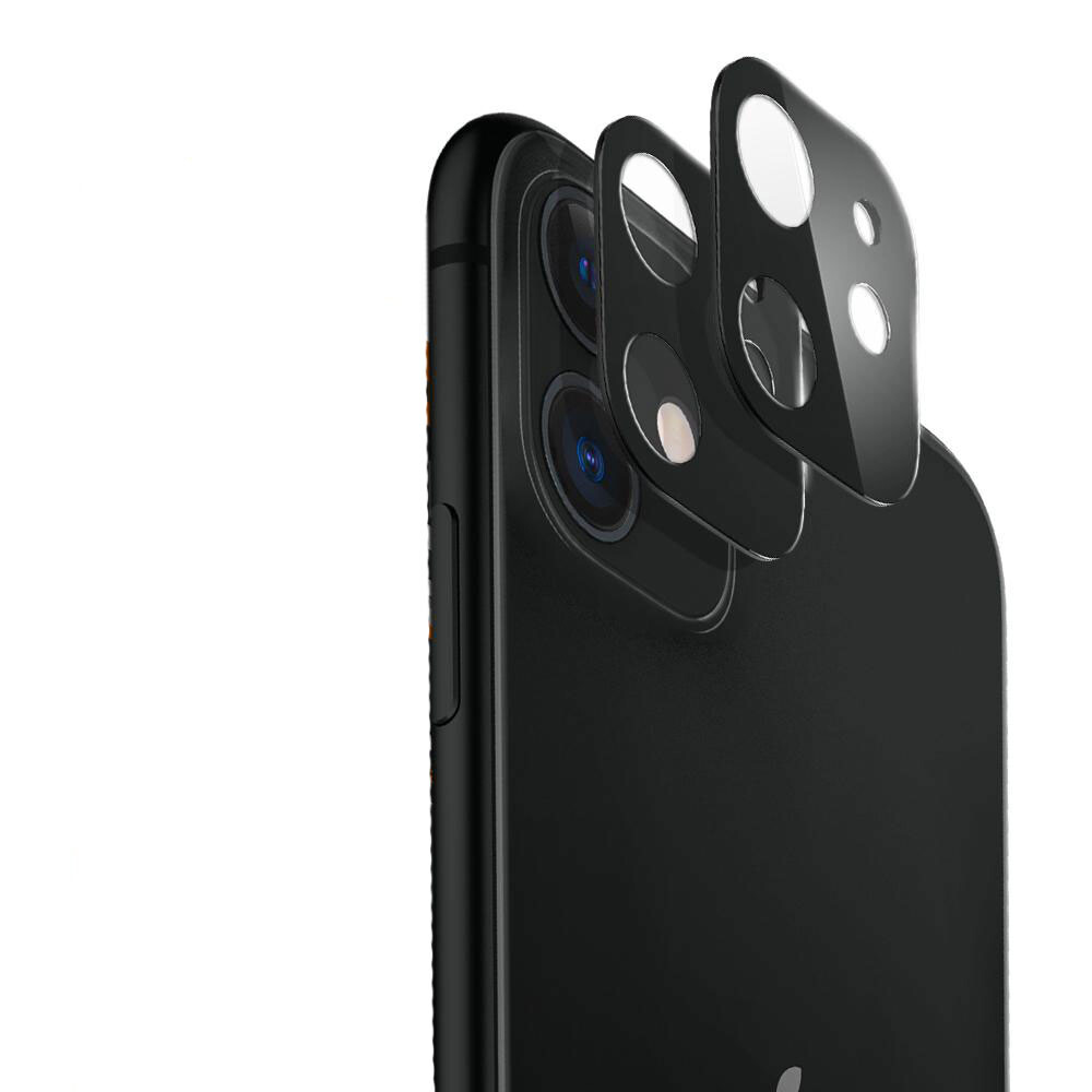 Черное защитное стекло на камеру ESR Fullcover Camera Glass Film Black для iPhone 11