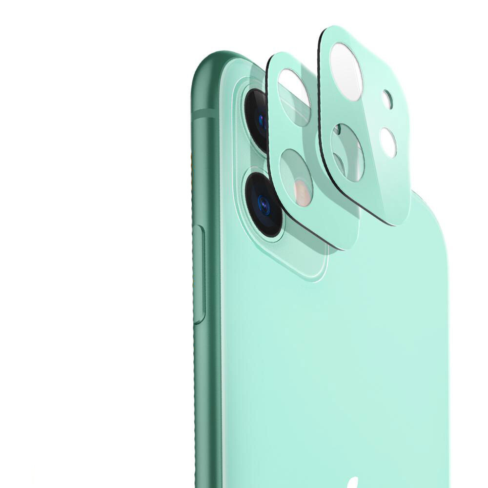 Защитное стекло на камеру ESR Fullcover Camera Glass Film Green для iPhone 11