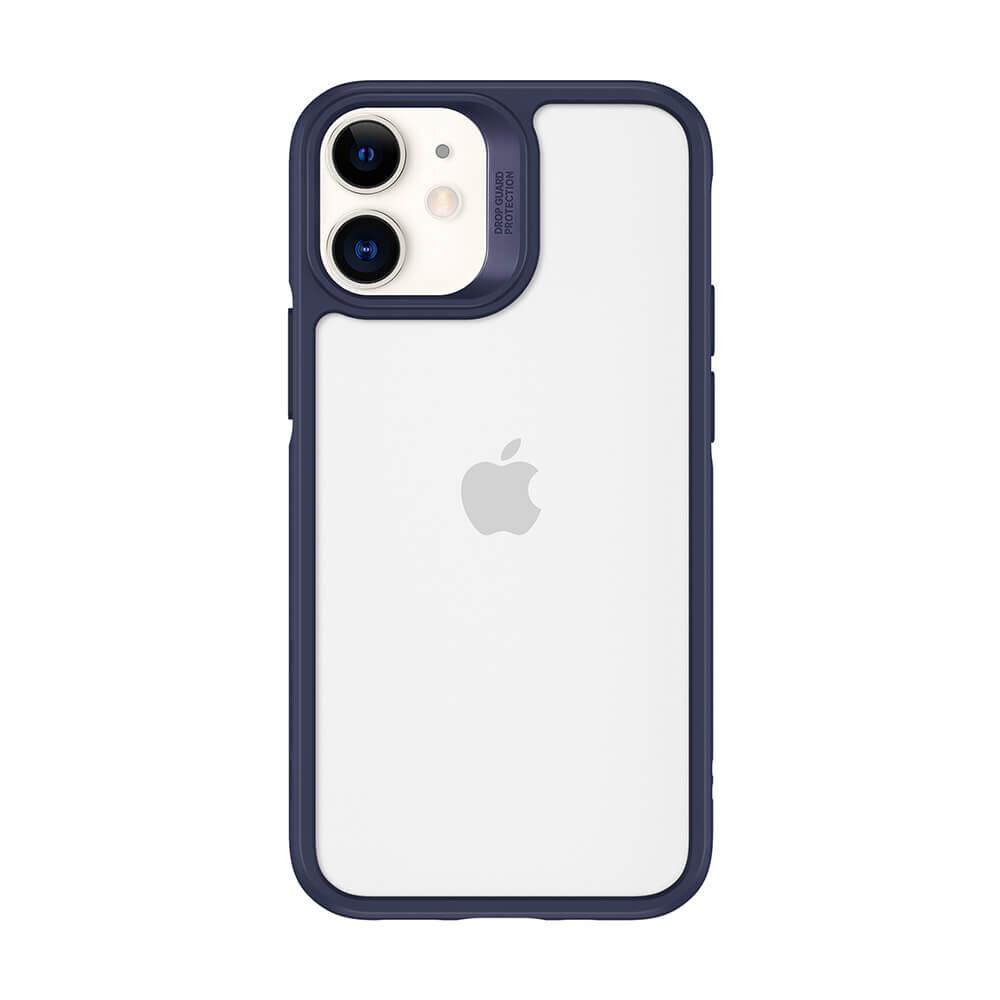 Стеклянный чехол ESR Ice Shield Blue Frame   Clear Back для iPhone 12 mini