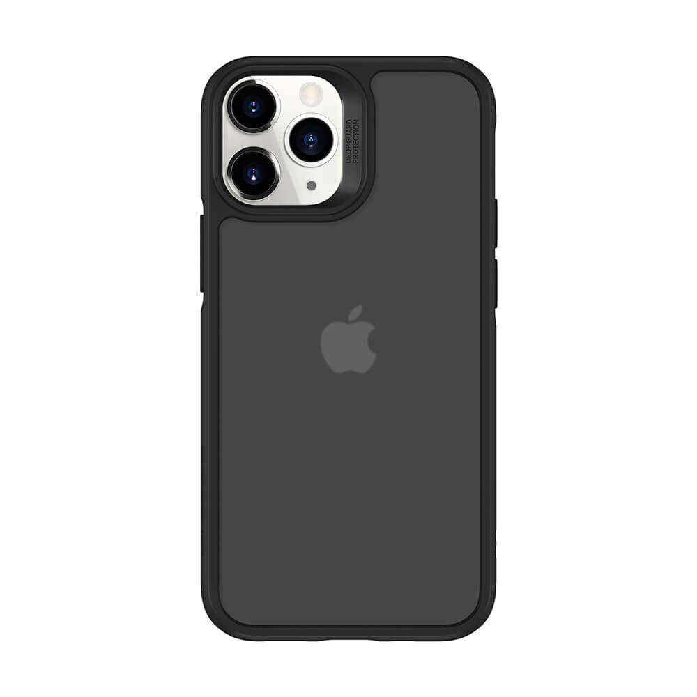 Стеклянный чехол ESR Ice Shield Black Frame   Jelly Black Back для iPhone 12 Pro Max