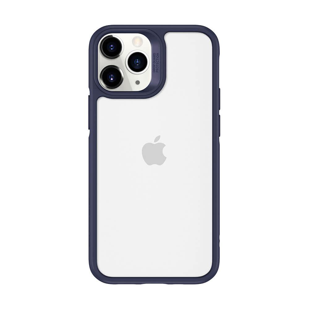 Стеклянный чехол ESR Ice Shield Blue Frame   Clear Back для iPhone 12   12 Pro