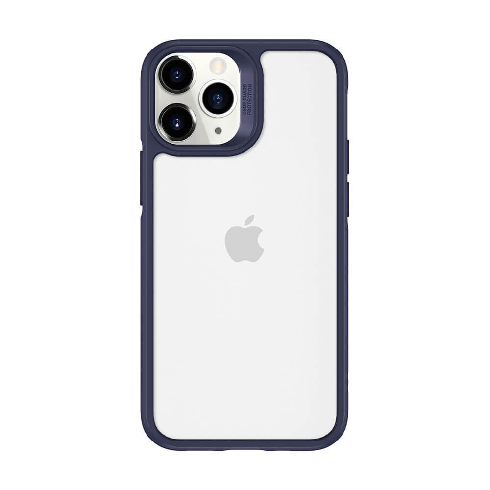 Купить Стеклянный чехол ESR Ice Shield Blue Frame   Clear Back для iPhone 12 Pro Max