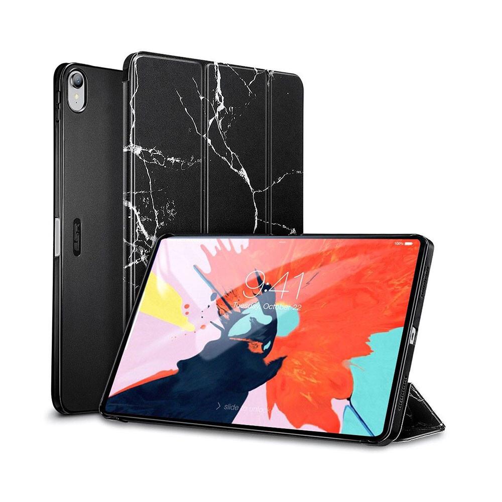 """Мраморный магнитный чехол ESR Marble Trifold Case Black для iPad Pro 11"""""""