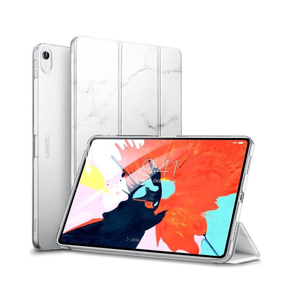 """Мраморный магнитный чехол ESR Marble Trifold Case White для iPad Pro 11"""""""