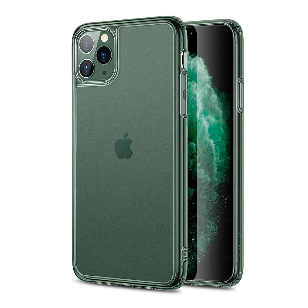 Стеклянный чехол ESR Matte Tempered Glass Pine Green для iPhone 11 Pro Max