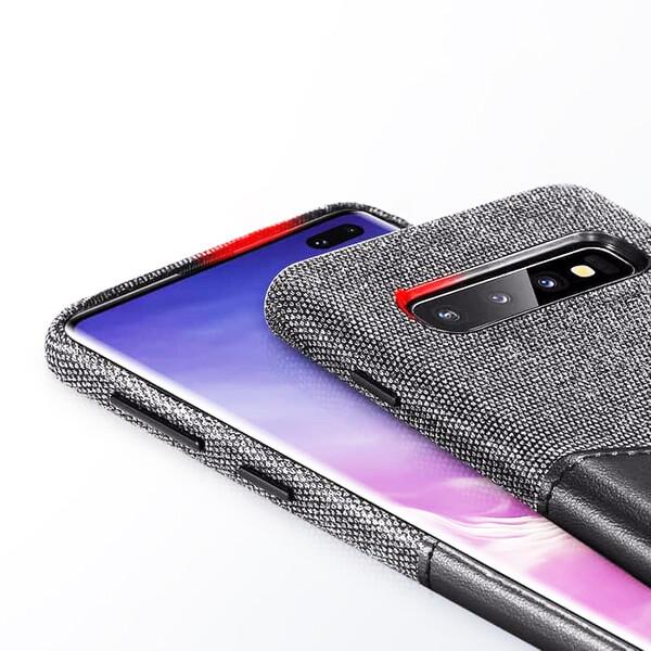 Кожаный чехол с отделением для карт ESR Metro Leather Black для Samsung Galaxy S10 Plus
