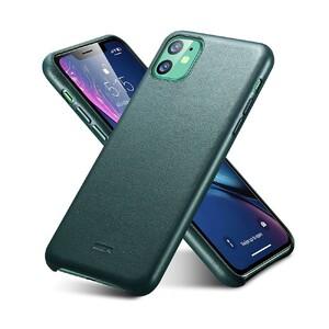 Купить  Кожаный чехол ESR Metro Leather Pine Green для iPhone 11