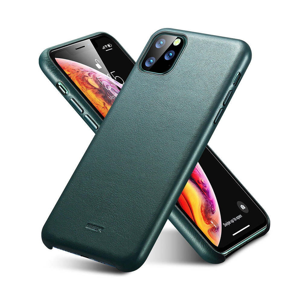 Кожаный чехол ESR Metro Leather Pine Green для iPhone 11 Pro