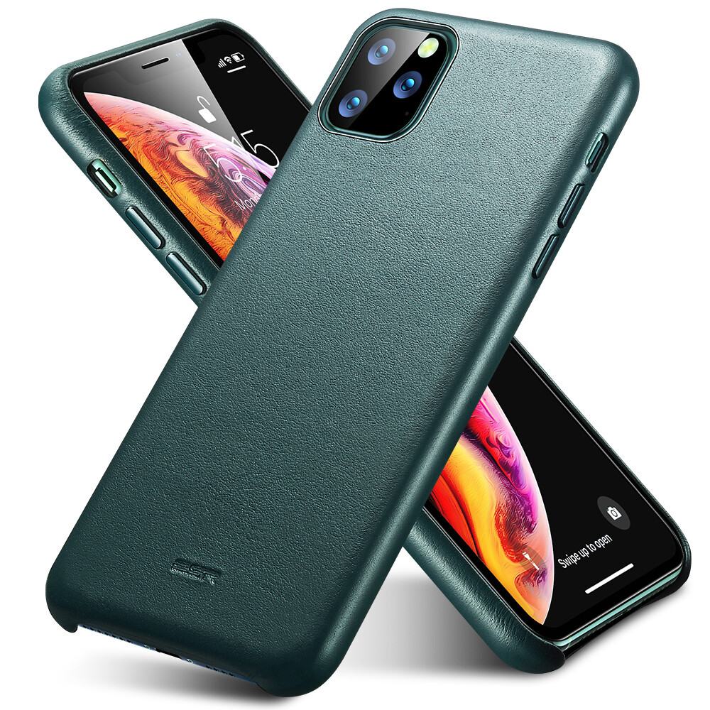 Кожаный чехол ESR Metro Leather Pine Green для iPhone 11 Pro Max