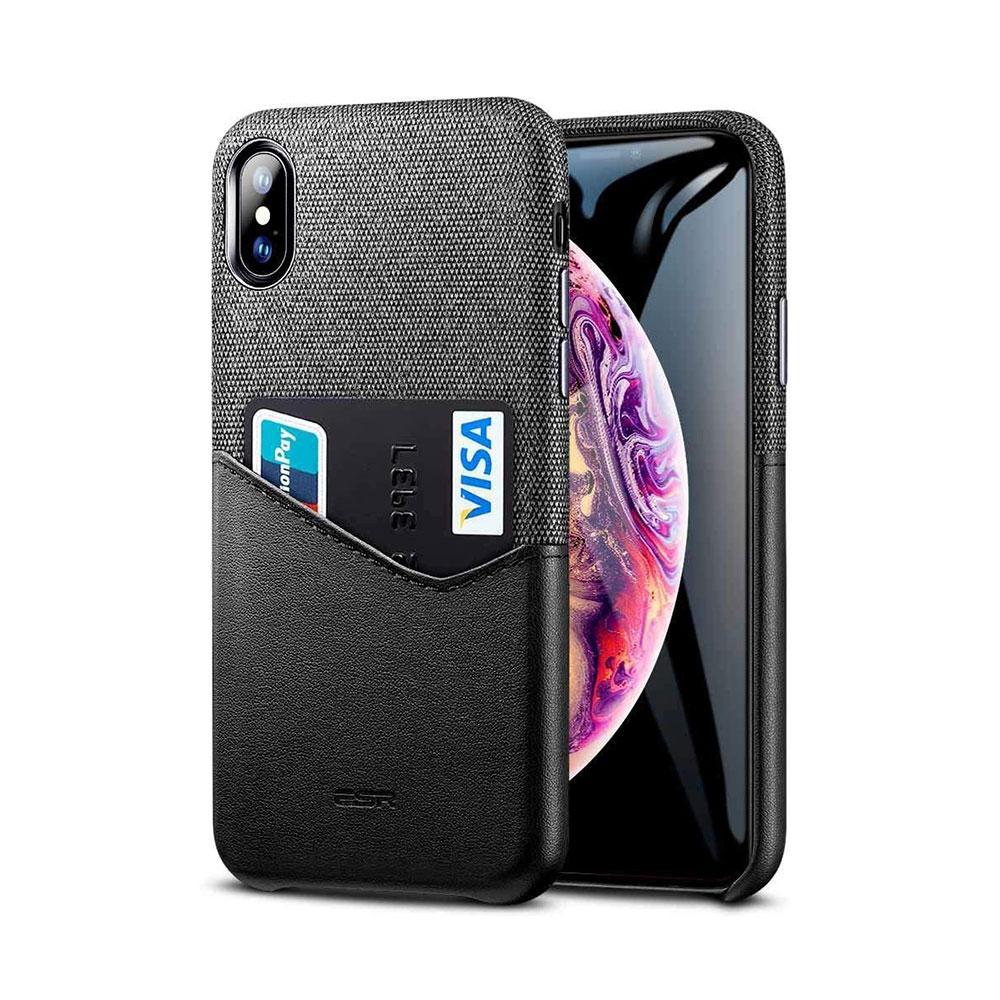 Купить Кожаный чехол с отделением для карт ESR Metro Series Black для iPhone XS Max