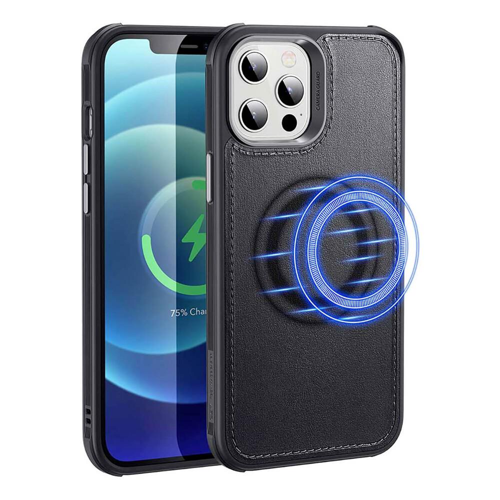 Кожаный черный чехол ESR Metro Vegan Leather Case MagSafe для iPhone 12   12 Pro