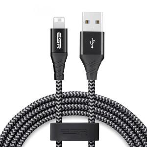 Купить Зарядный кабель ESR Nylon USB-A to Lightning MFI Black 2м