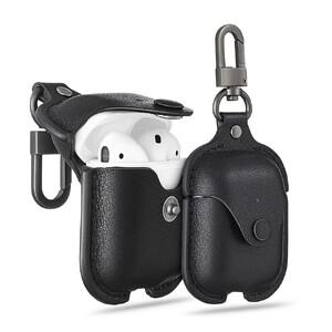 Купить Кожаный чехол с карабином ESR Oxford Leather Black для Apple AirPods
