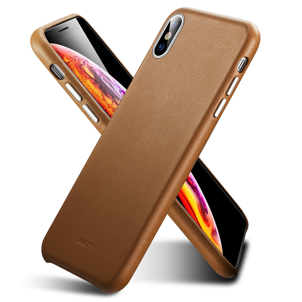 Кожаный чехол ESR Oxford Leather Brown для iPhone X | XS