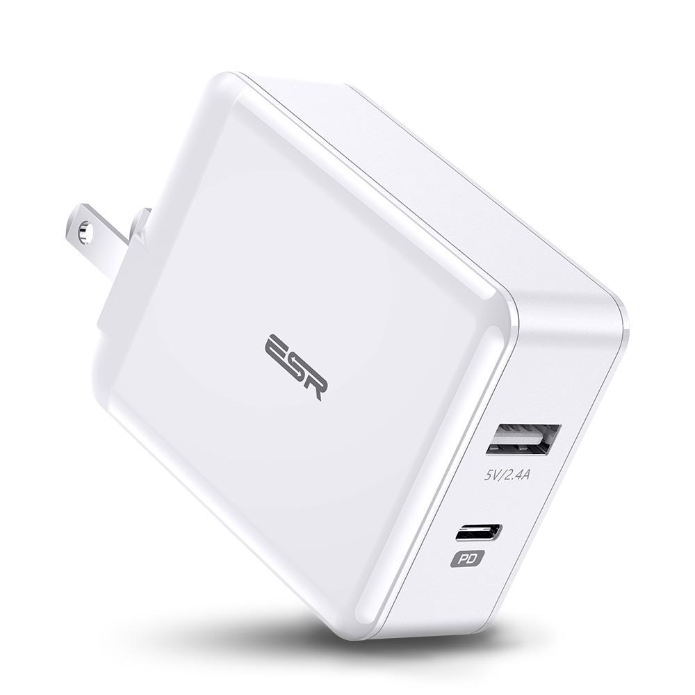 Купить Быстрое зарядное устройство ESR PD Charger 30W USB-C + USB (Евро)