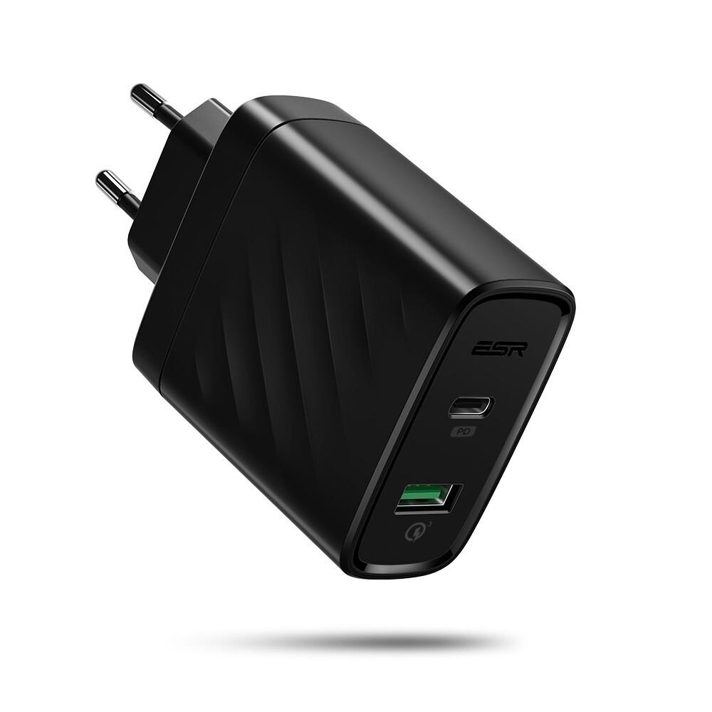Быстрое зарядное устройство ESR USB/Type C 36W PD QC для iPhone/iPad/MacBook/Samsung