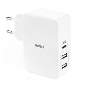 Купить Быстрое зарядное устройство ESR USB Type-C PD + 2 USB Wall Charger White (EU)