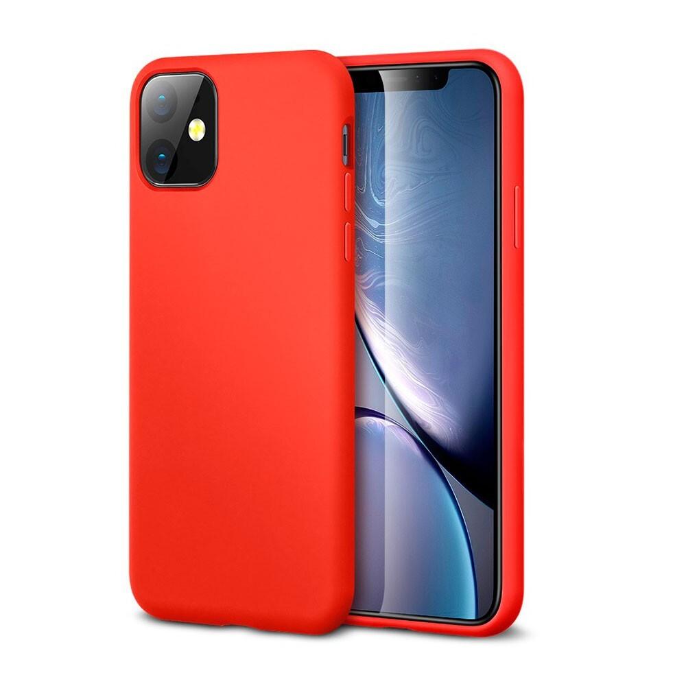 Красный силиконовый чехол ESR Yippee Color Red для iPhone 11
