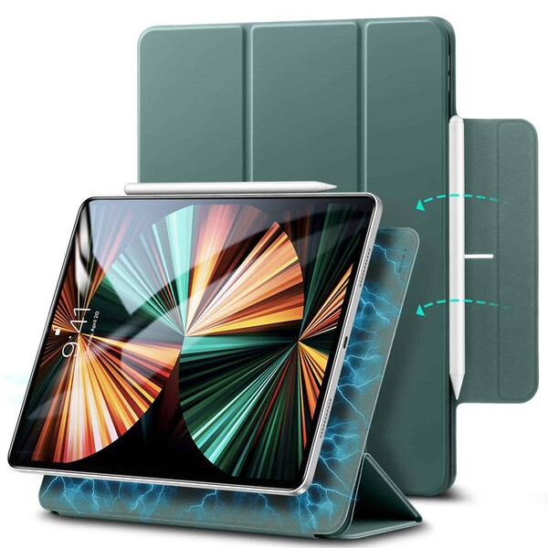 "Магнитный чехол–книжка ESR Rebound Magnetic Forest Green для iPad Pro 12.9"" M1 (2021 | 2020)"