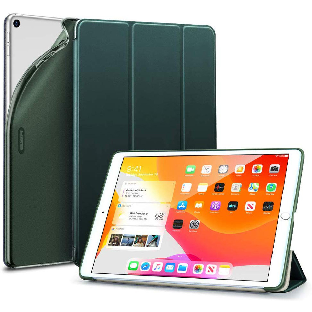 "Купить Чехол-подставка ESR Rebound Slim Smart Case Green для iPad 8 | 7 10.2"" (2020 | 2019)"