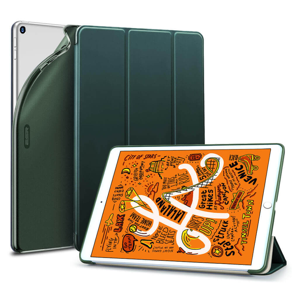 Купить Силиконовый чехол-книжка ESR Rebound Slim Smart Case Pine Green для iPad mini 5 (2019)