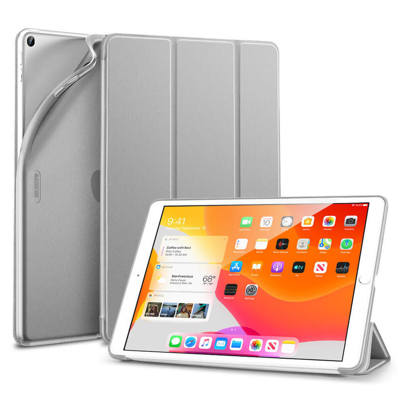 "Чехол-подставка ESR Rebound Slim Smart Case Silver Gray для iPad 8 | 7 10.2"" (2020 | 2019)"