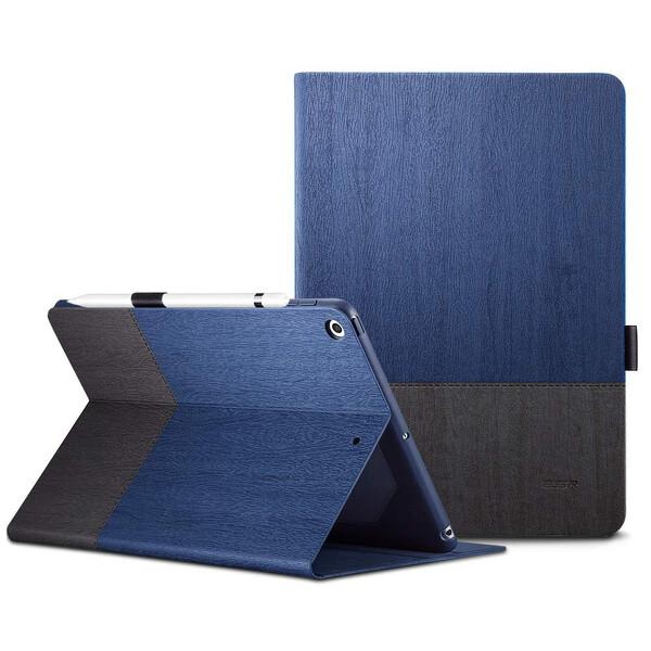 Кожаный чехол ESR Simplicity Premium Folio Blue Gray для iPad mini 4