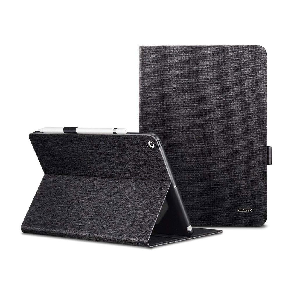 """Кожаный чехол с держателем для Apple Pencil ESR Simplicity Premium Folio Black для iPad 9.7"""" (2017   2018)"""