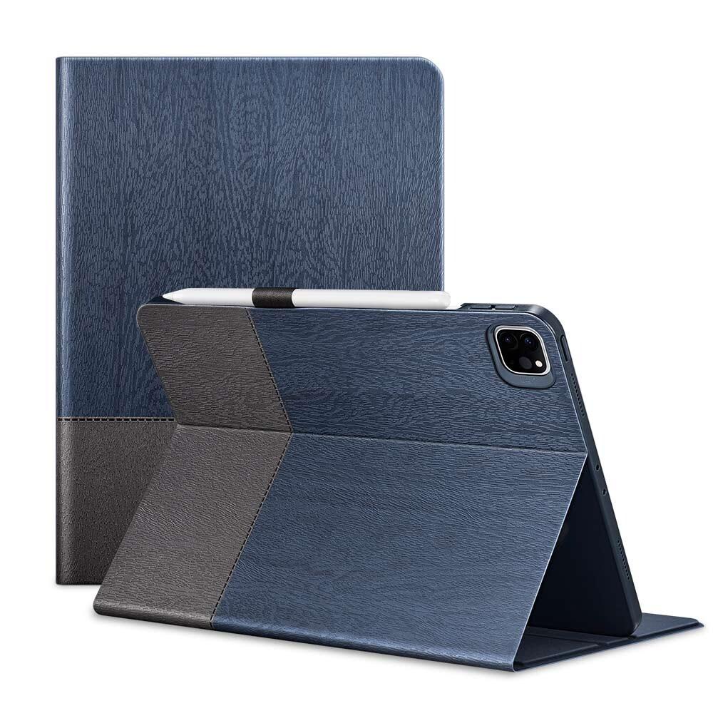 "Чехол-книжка с держателем для Apple Pencil ESR Urban Premium Blue Gray для iPad Pro 12.9"" M1 (2021)"