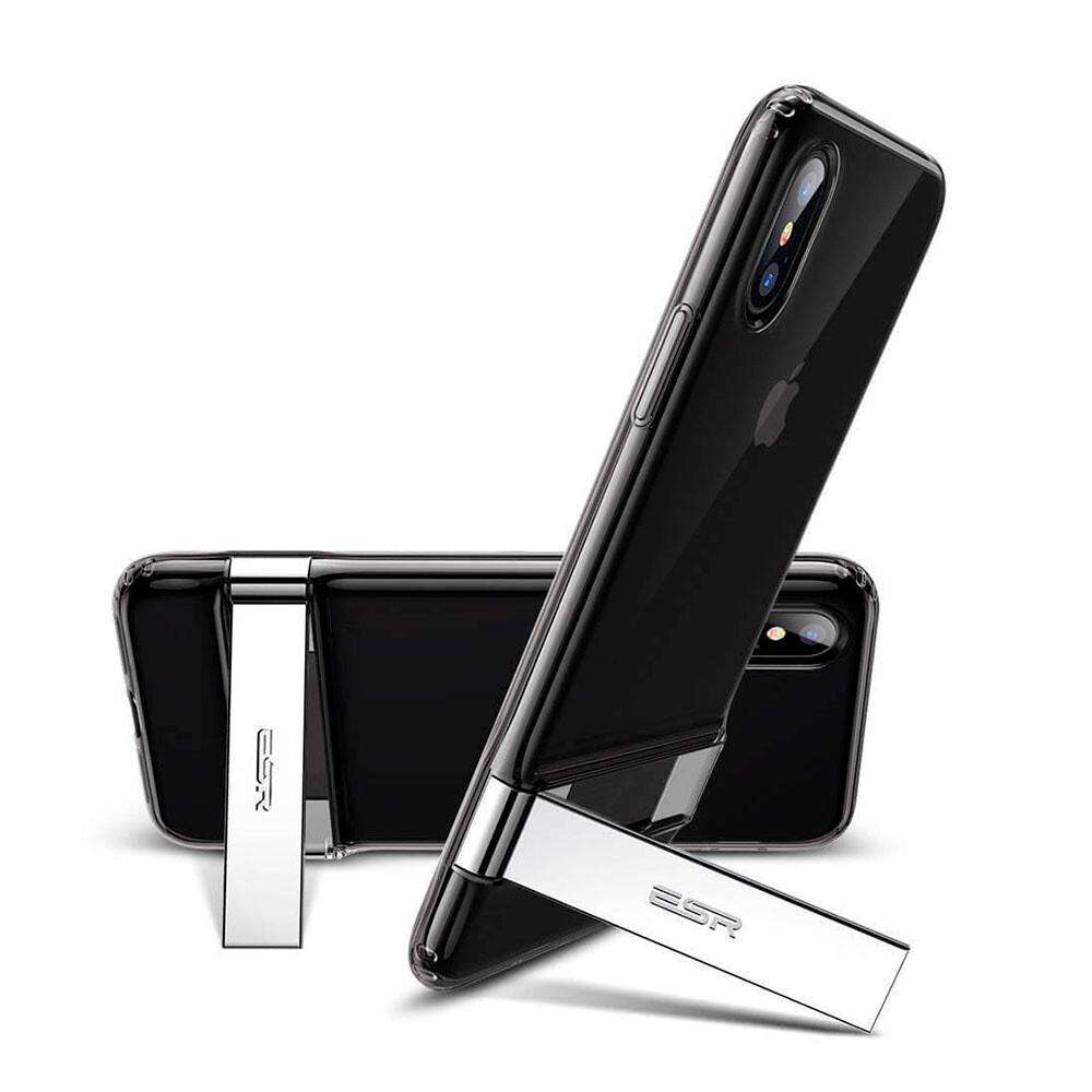 Силиконовый чехол с подставкой ESR Urbansoda Simplace Series Black для iPhone X | XS