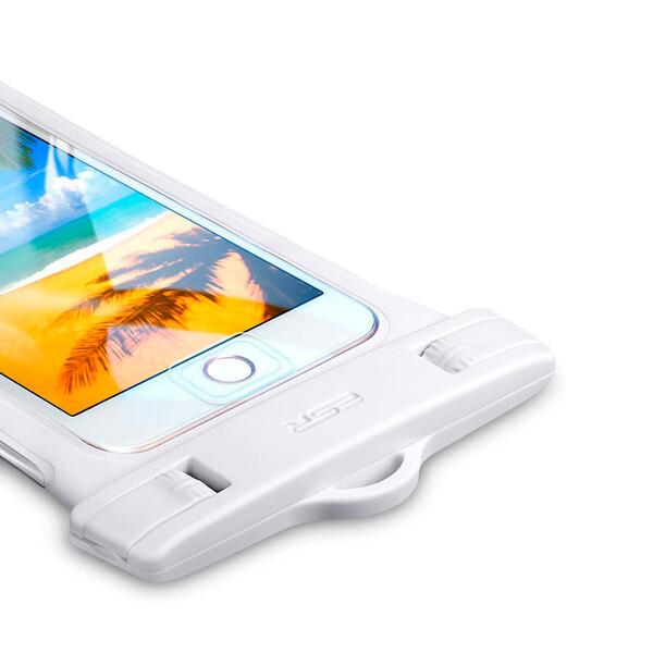 "Водонепроницаемый чехол ESR Waterproof Case White для смартфонов до 6"""