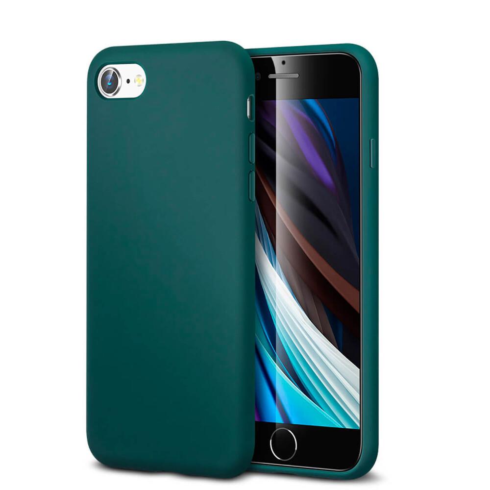 Зеленый силиконовый чехол ESR Yippee Color Pine Green для iPhone 7 | 8 | SE 2 (2020)