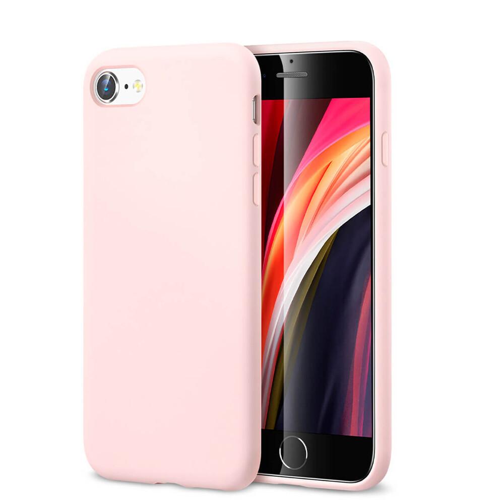 Розовый силиконовый чехол ESR Yippee Color Pink для iPhone 7   8   SE 2 (2020)