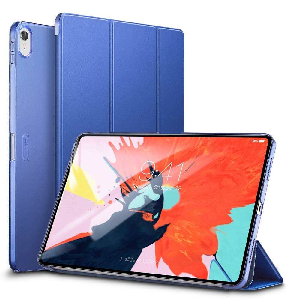 "Кожаный чехол ESR Yippee Color Trifold Smart Case Navy Blue для iPad Pro 11"" (2018)"