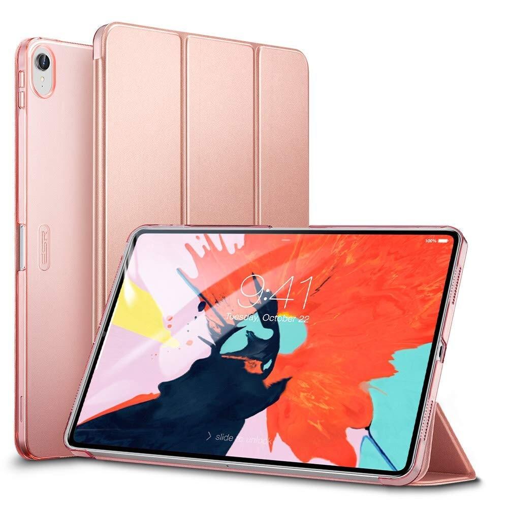"Кожаный чехол ESR Yippee Color Trifold Smart Case Rose Gold для iPad Pro 11"" (2018)"