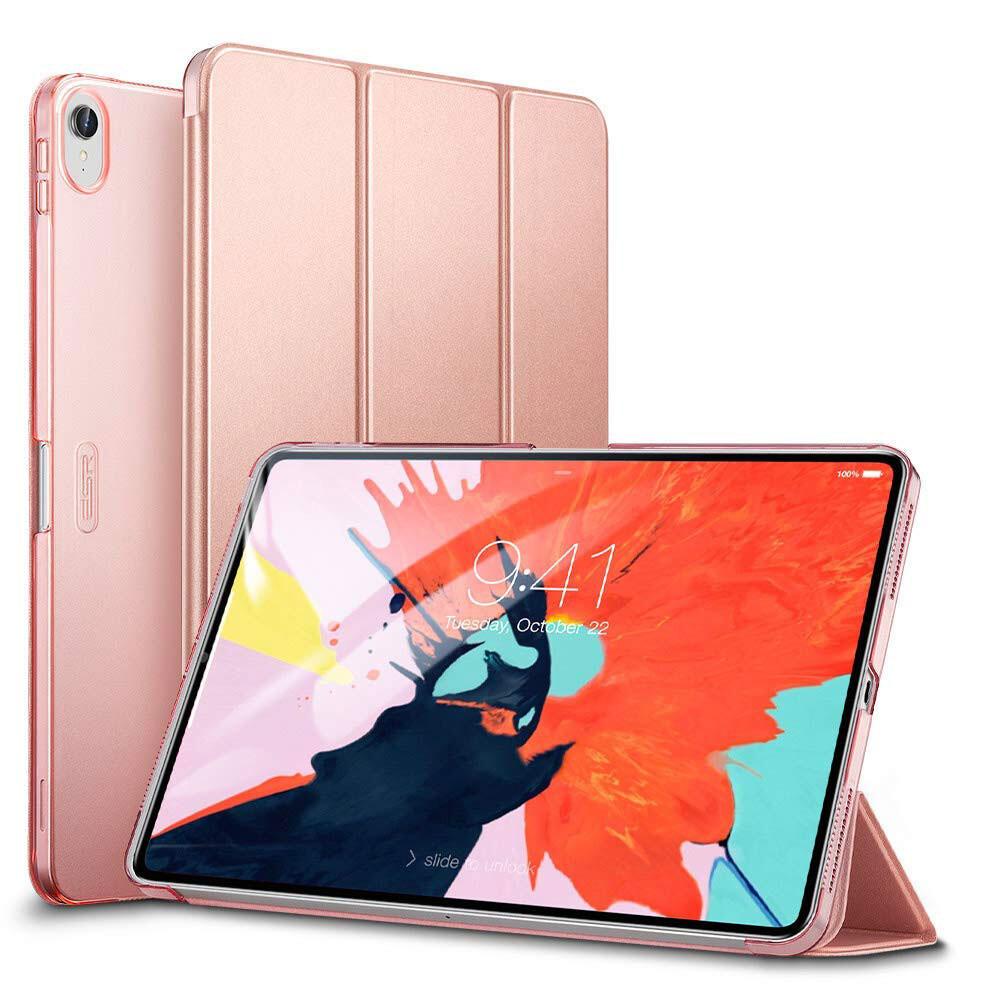 "Кожаный чехол ESR Yippee Color Trifold Smart Case Rose Gold для iPad Pro 12.9"" (2018)"