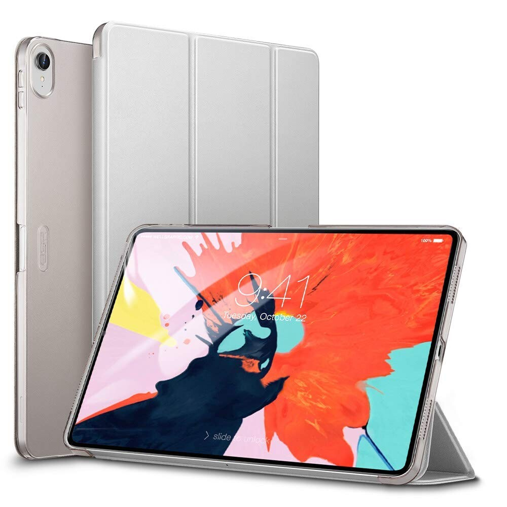 "Кожаный чехол ESR Yippee Color Trifold Smart Case Silver для iPad Pro 11"" (2018)"
