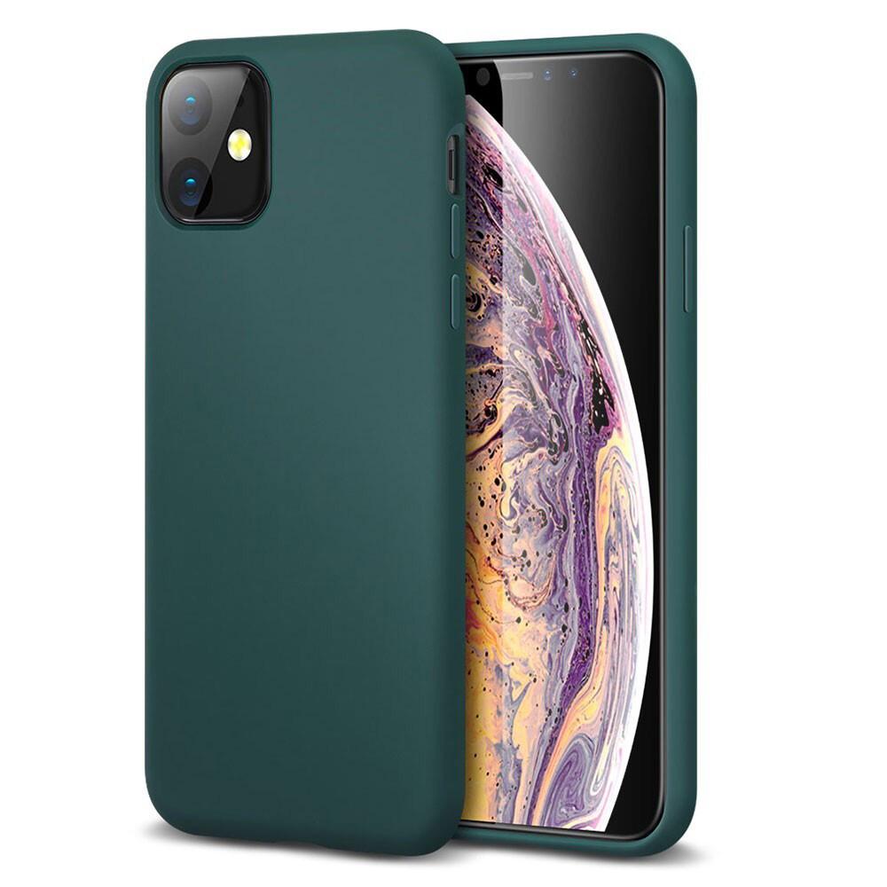 Зеленый силиконовый чехол ESR Yippee Color Pine Green для iPhone 11